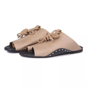 Shoes - Ankle wrap flats